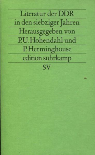 P.U. Hohendahl/P. Herminghouse: Literatur der DDR in den siebziger jahren
