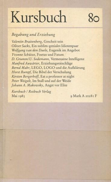 Kursbuch 80 - Begabung und Erziehung
