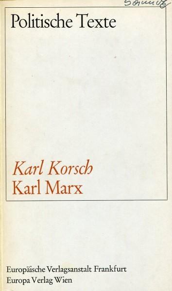 Karl Korsch: Karl Marx