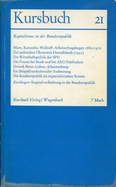Kursbuch 21 - Kapitalismus in der Bundesrepublik