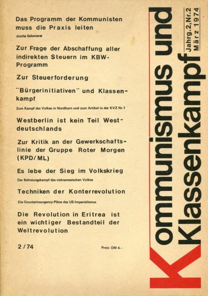 Kommunismus und Klassenkampf Jg.2/Nr.2