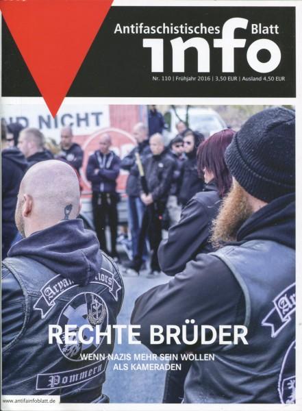 Antifaschistisches Info Blatt Nr. 110 - Rechte Brüder