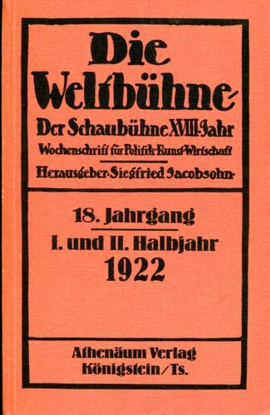Die Weltbühne, 18. Jahrgang, 1922