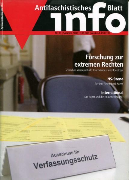 Antifaschistisches Info Blatt Nr. 83