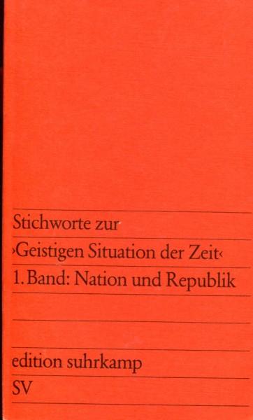 Jürgen Habermas (Hg.): Stichworte zur 'Geistigen Situation der Zeit' - 2 Bände