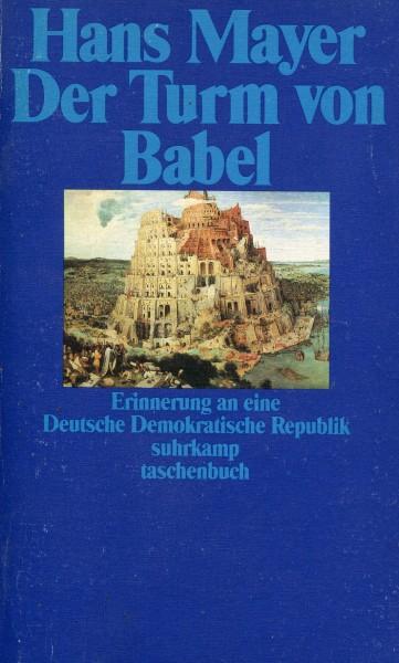 Hans Mayer: Der Turm von Babel