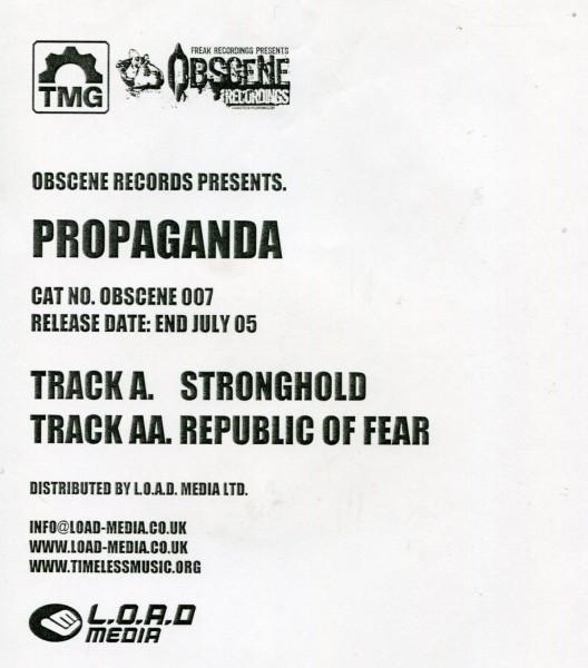 Propaganda: Stronghold/Republic of Fear White Label
