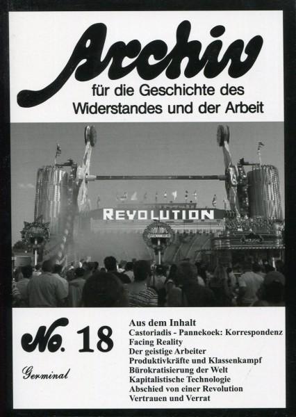 Archiv für die Geschichte des Widerstands und der Arbeit No.18
