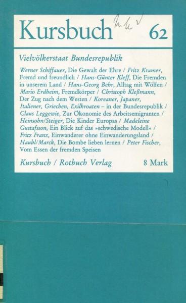 Kursbuch 62 - Vielvölkerstaat Bundesrepublik