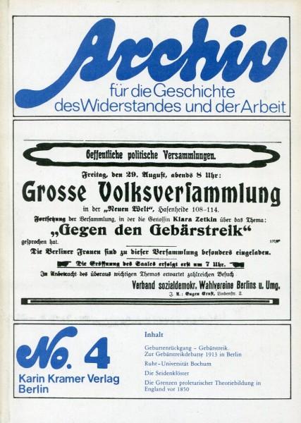 Archive für die Geschicte des Widerstandes und der Arbeit No. 4