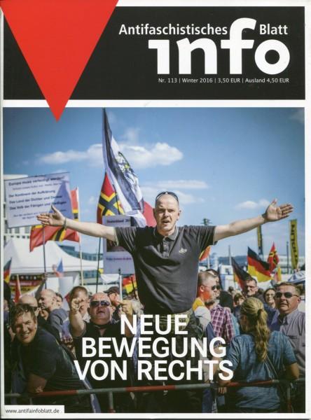 Antifaschistisches Info Blatt Nr. 113 - Neue Bewegung von rechts