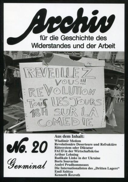 Archiv für die Geschichte des Widerstandes und der Arbeit, No.20