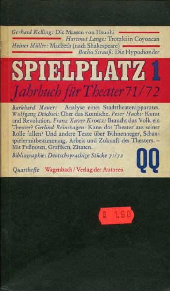 Spielplatz 1 - Jahrbuch für Theater 71/72