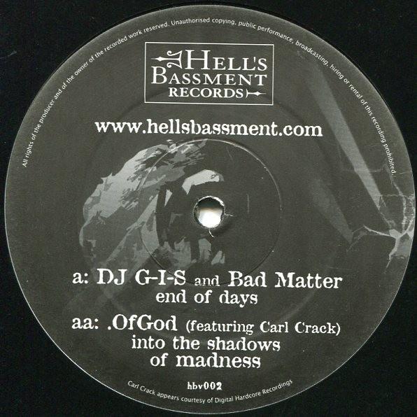 """DJ G-I-S & Bad Matter/Of God (feat. Carl Crack) split 12"""""""
