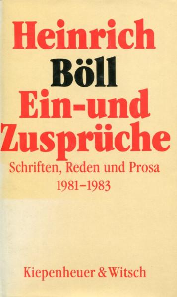 Heinrich Böll: Ein- und Zusprüche