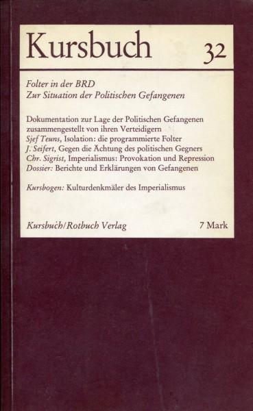 Kursbuch 32 - Folter in der BRD
