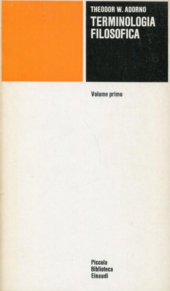 Theodor W. Adorno: Terminologia Filosofica