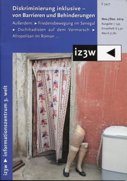 iz3w 345 - Diskriminierung inklusive - von Barrieren und Behinderungen